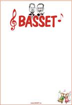 Microsoft Word - Basset-affisch i tegelrött, karikatyr enkel